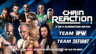 TONIGHT! LIVE On PPV Chain Reaction 2018 7PM (2/1c)