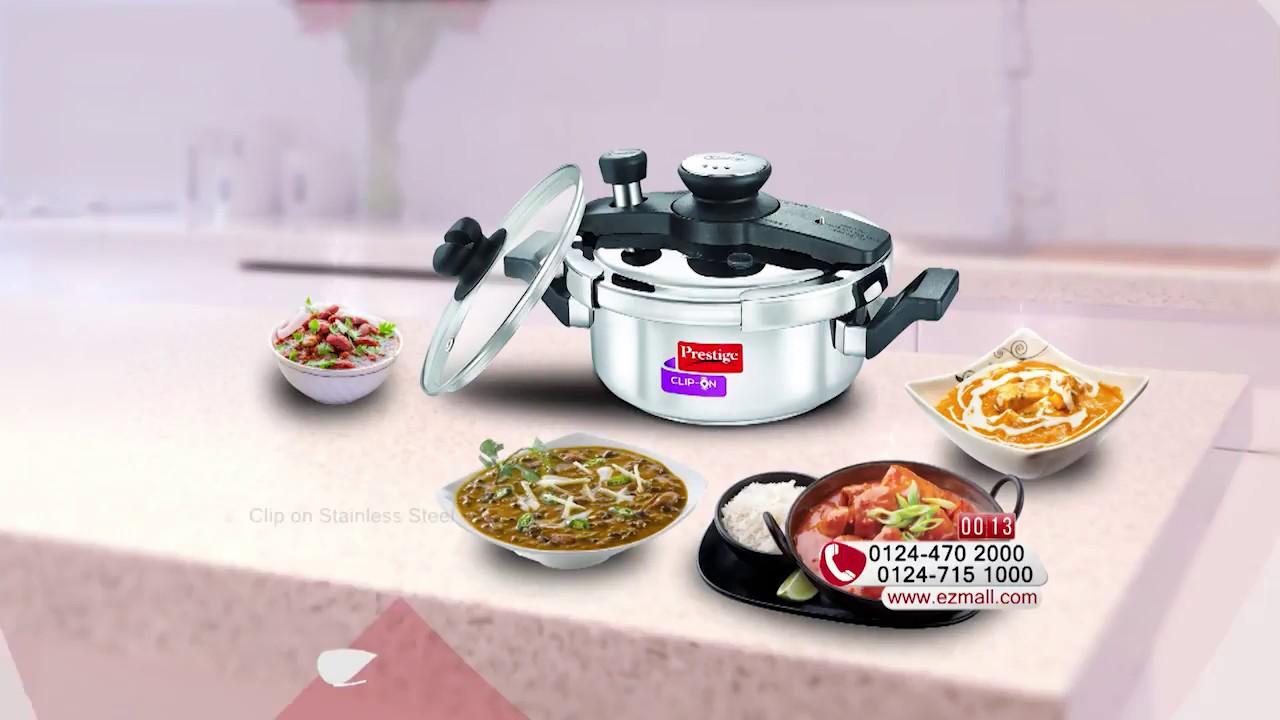 Ezmall Online Shopping | Prestige 3 Ltr  Clip-on Pressure Cooker
