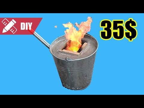 Easiest mini metal bucket foundry, 35€. How to make it 🔥