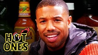 Download Michael B. Jordan Gets Knocked Out By Spicy Wings   Hot Ones Mp3 and Videos