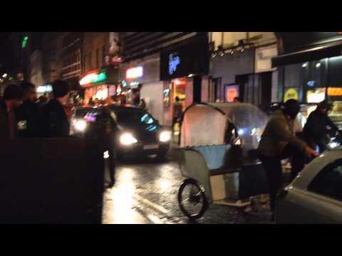 Busy Soho on a Saturday night. London, November 2013