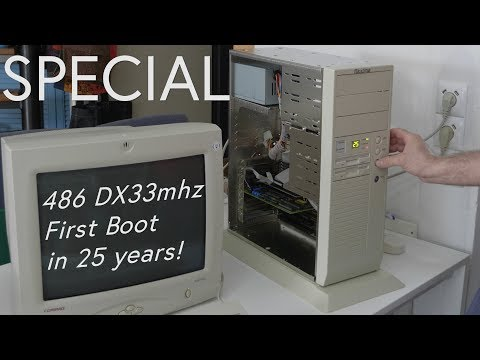 486 DX33 Computer, First Boot in 25 year! Brand New and Never Used!