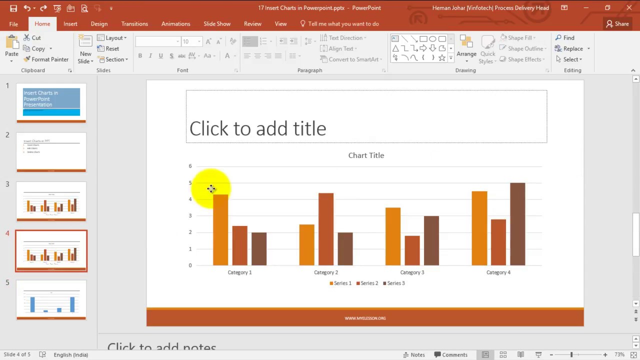 Insert charts in powerpoint hindi also youtube rh