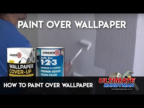 How To Paint Over Wallpaper Youtube