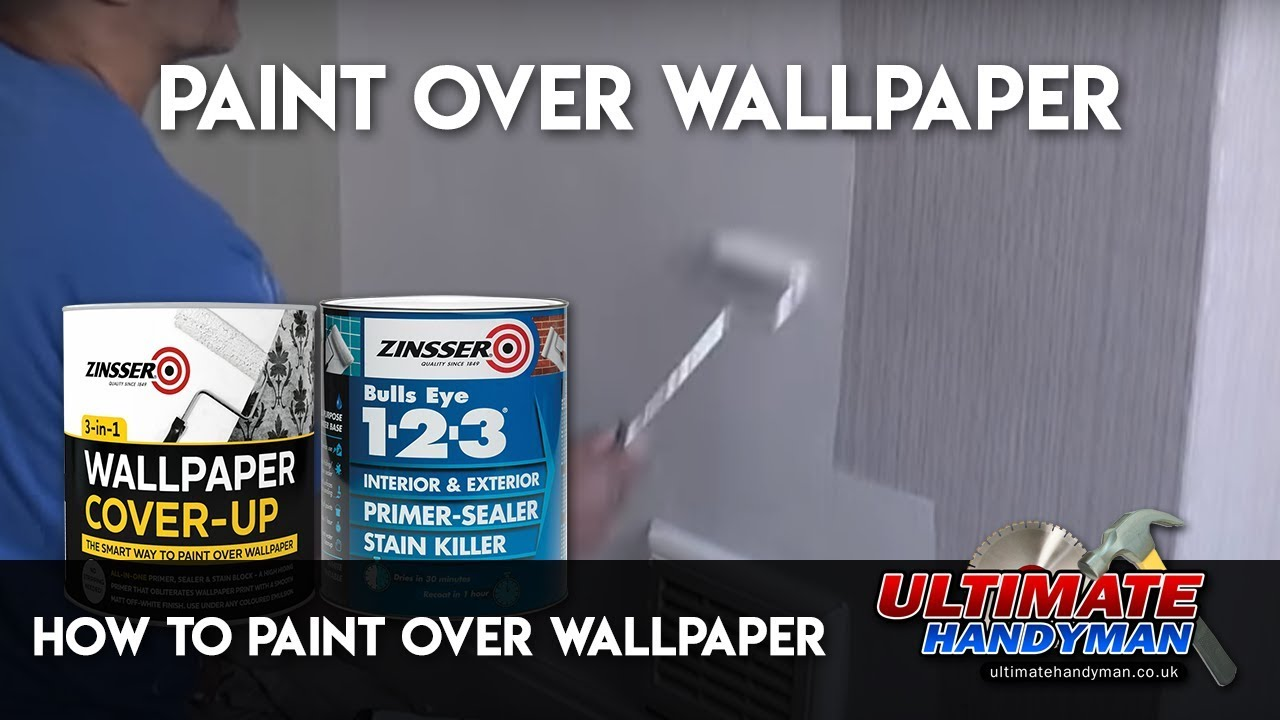 How to paint over wallpaper - YouTube