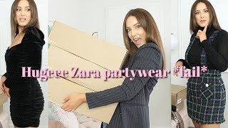 ZARA PARTYWEAR HAUL & TRY ON *slight fail*