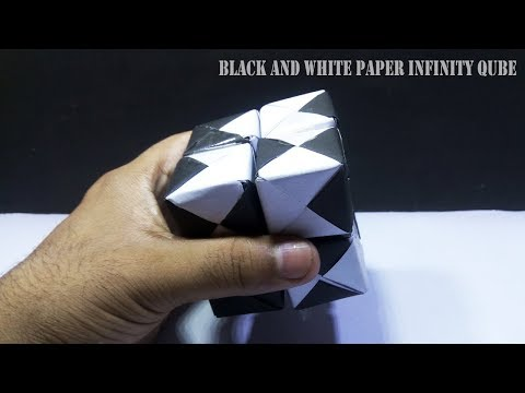 Diy New  Black and White Paper Infinity Cube