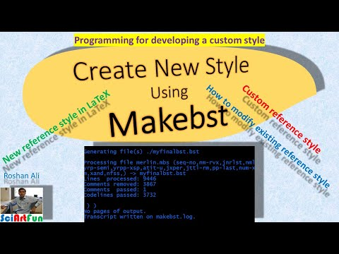 Bibtex Style Creation With Makebst In LaTex (For Beginners)