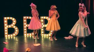 "BLONDE BOMBSHELL BURLESQUE, German burlesque troupe, presenting ""Kurven, Tanz & Rote Lippen"""