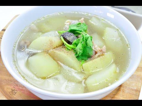 ต้มจืดฟักเขียวไก่ Winter Melon Soup with Chicken