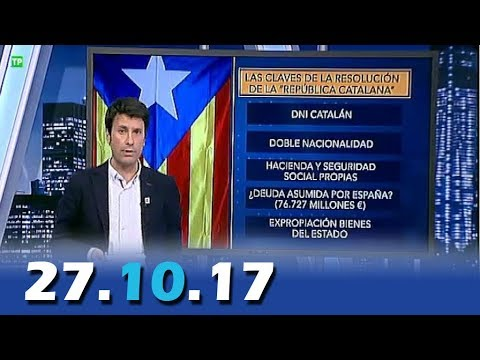 El Cascabel 13tv 27.10.17 Declaración Unilateral de Independ
