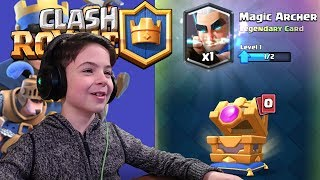 OMG!!! MAGIC ARCHER CHEST OPENING - Clash Royale