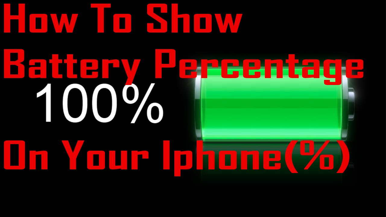 how to add battery percentage on iphone how to show battery percentage on your iphone 19811