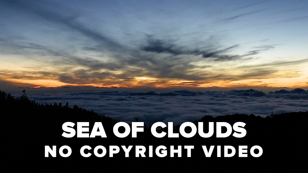 No Copyright Video - Sea of Clouds nature background - Full HD 1080 - Tenerife