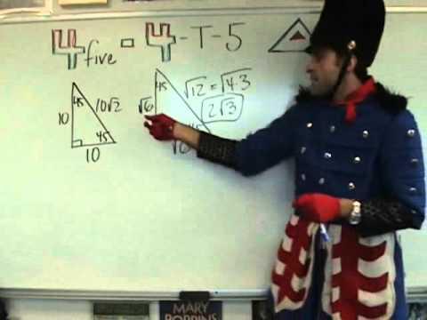 Geometry - 45-45-90 Triangles