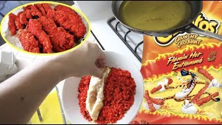 I cooked Hot Cheetos Chicken Fingers *DONT WATCH HUNGRY*