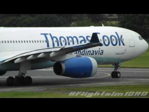 Thomas Cook 'Scandinavia' A330-343X Takeoff at Edinburgh HD 'OY-VKH'