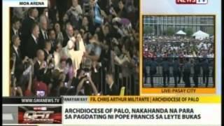 Pope Francis, dumating na sa MOA Complex para sa encounter with the families