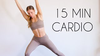 15 MIN BEGINNER CARDIO Workout (At Home No Equipment)