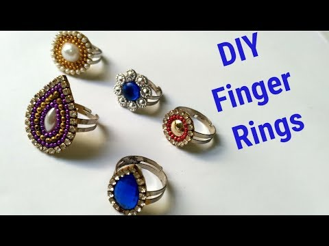 How to make Paper Finger Ring at home /Simple and easy handmade paper ring