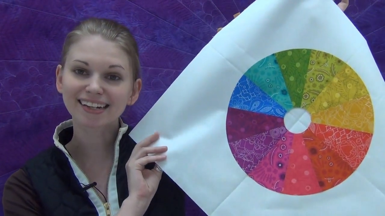 How To Make A Color Wheel Quilt Block Beginner Quilting Tutorial