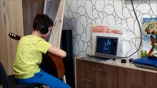 КАрАнтиН. Хроники карантина. День 8. Удалённый онлайн-урок обучения игре на гитаре с преподавателем.