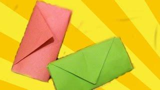 КОШЕЛЕК. Оригами Своими Руками из Бумаги для Начинающих. Видео(В этом видео я научу Вас делать своими руками оригами для детей - КОШЕЛЕК. Эта поделка из бумаги легкая в..., 2014-12-19T18:15:51.000Z)