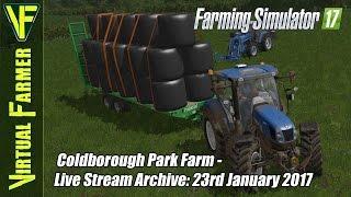 Farming Simulator 17 - Coldborough Park Farm - Live Stream w/ Seasons Mod