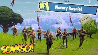 50 vs 50 Win! (Fortnite Battle Royale) Gameplay!!