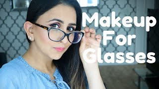 GLASSES MAKEUP FOR INDIAN SKIN 👓