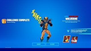 WOLVERINE SKIN *UNLOCKED* in FORTNITE!