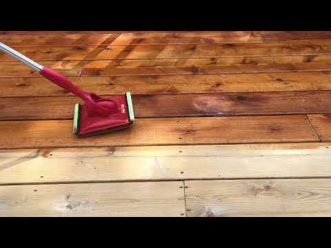 How to Use the Shur Line Deck Stain Pad with Groove Tool