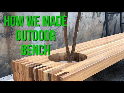 DIY | Wooden Outdoor Bench (Wooden bench) #woodenbench #outdoorbench