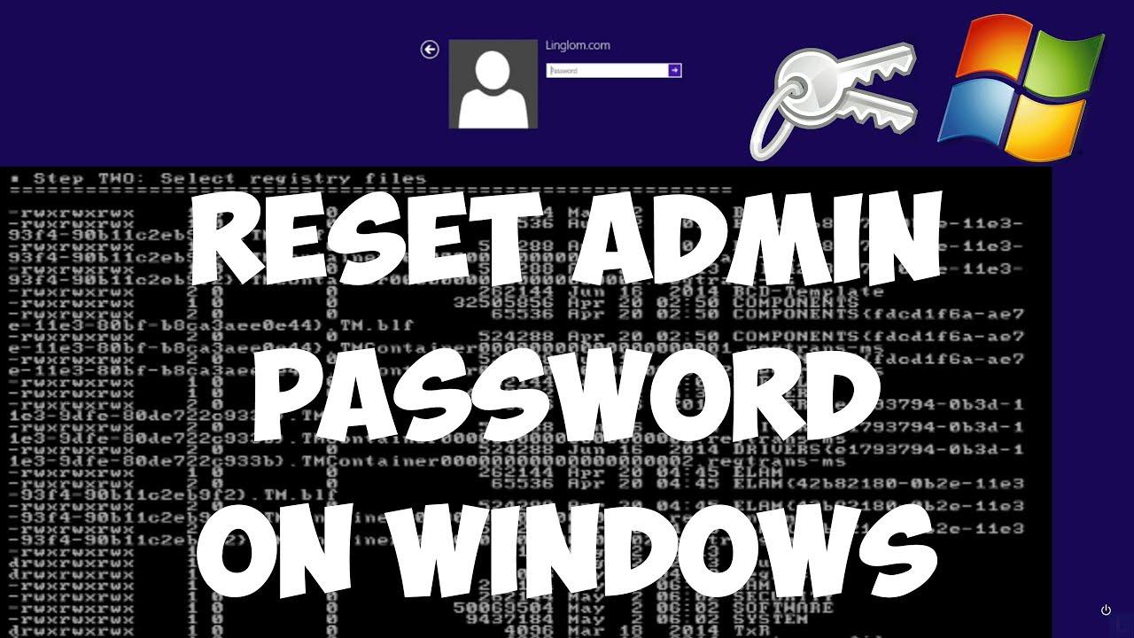 offline password reset windows 10