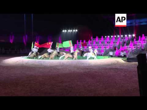 Jackie Chan and Turkmenistan President attend horse festival in China