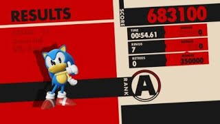 Sonic Forces - Stage 11 VS Eggman - Speedrun in 54.61 Seconds