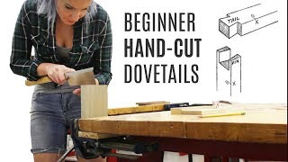 A COMPLETE BEGINNER Tries Hand Cut Dovetail Joints | Woodworking