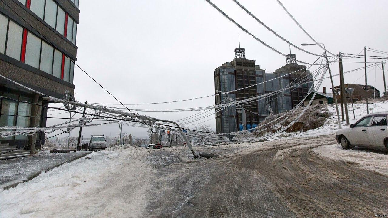 Жители Владивостока снова без света. Новый обрыв проводов на ЛЭП