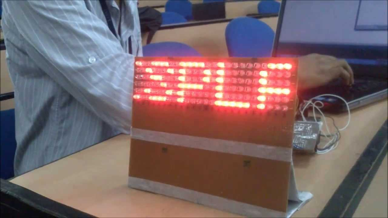 Electronics project-How to make LED Display Board | B.Tech Projects ...