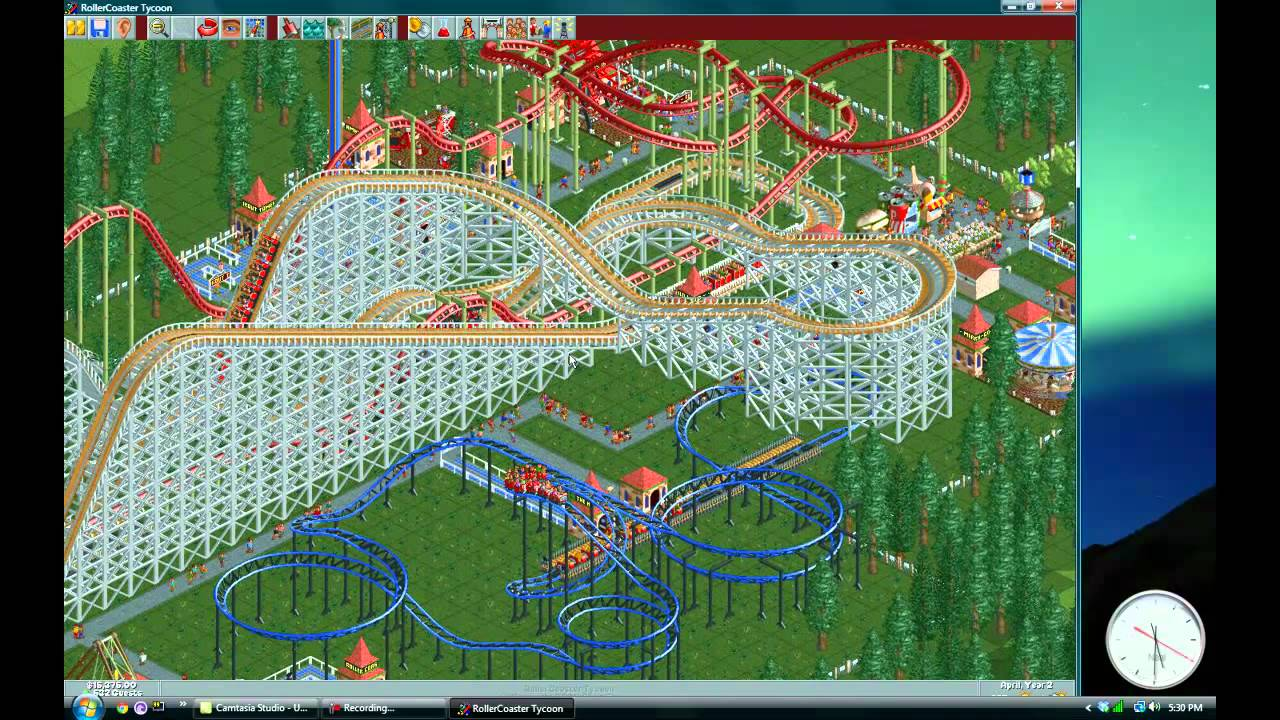 Roller Coaster Tycoon Window Mode Test With Camtaisa