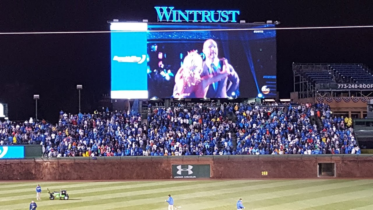 david ross on dancing with the stars on the wrigley field