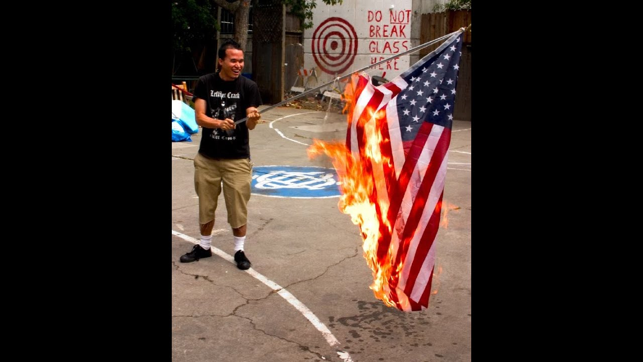 Image result for image of american flag burning