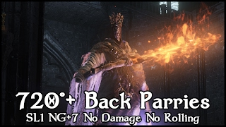 Disrespect Souls - Pontiff Sulyvahn【720°+ Back Parries Applause SL1, NG+7, No Damage, No Rolling】