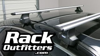 honda crosstour with thule 480r traverse roof rack by rack outfitters