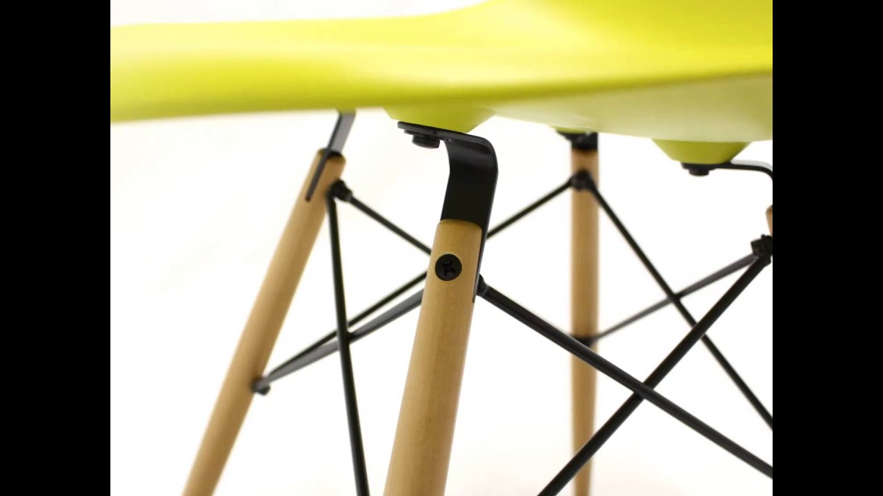 Vitra eames plastic side chair dsw youtube for Eames plastic side chair dsw replica