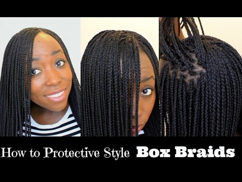 How to Box Braid Your Own Hair feather Tips and Seal Box Braids Ends Protective Style