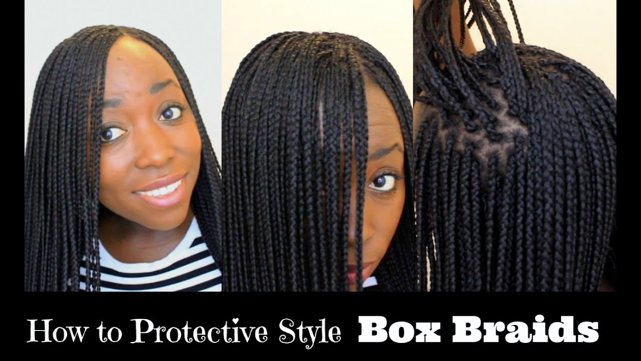 How To Box Braid Your Own Hair Feather Tips And Seal Braids Ends Protective Style You