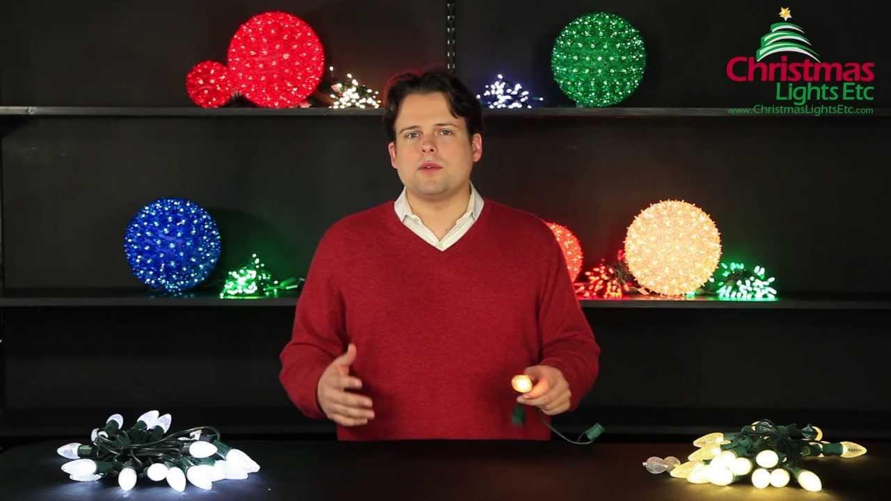 christmas light decorating ideas incandescent vs led christmas lights youtube