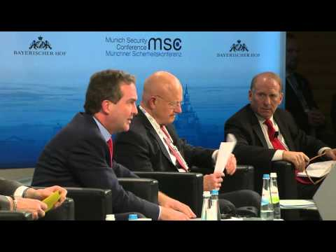 """Panel Discussion """"'Daeshing' Terror and Safeguarding Liberties""""  James R. Clapper (Direc"""