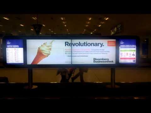 Bloomberg Businessweek - Digital Airport Advertising